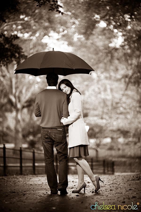 Dating Couple in Rain